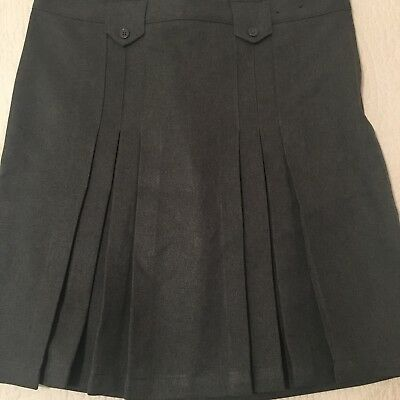 2b770550e French Toast Girl Uniform Skirt Pleated Scooter Elastic Size 14 1/2 Plus  Gray