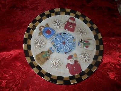 """New Home Interiors """"Heart Of Christmas"""" Wall Plate / Santa Cookie Plate"""