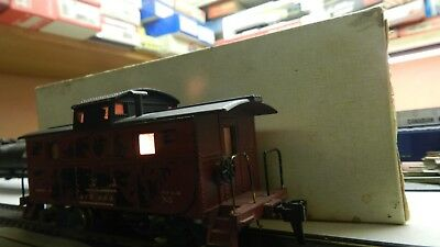 Hobby Time - Ho Lighted Caboose - Weathered / Distressed