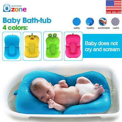 INFANT BABY Kids Bath Tub Bath Seat Soft Cushion Antiskid Bathing ...
