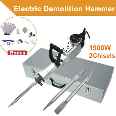 1900W Jack Hammer Demolition Hammer Jackhammer Concrete Electric Rotary Drill