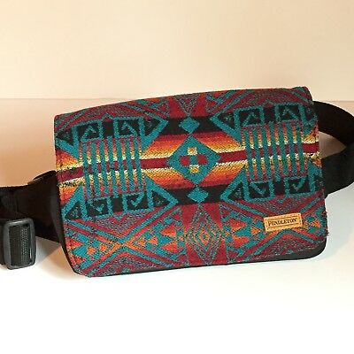 Pendleton Wool Fanny Pack Aztec Southwestern Knit 90s Travel Hip Waist Bag