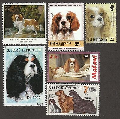 CAVALIER KING CHARLES SPANIEL**Int'l Postage Stamp Collection**Unique Gift **
