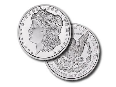 2 - 1 oz. 999 Fine Silver Rounds - Morgan Dollar Design - Brilliant Uncirculated