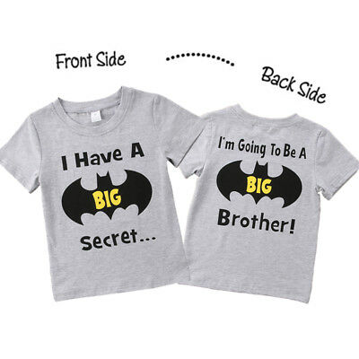 2018 Cotton Kids Baby Boys Batman Brother Top T-shirt Casual Clothes Summer UK