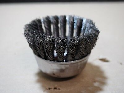 """2-3/4"""" Osborn Mini Stainless Steel Wire Cup Knotted Knot Brush Grind 33355 33550"""