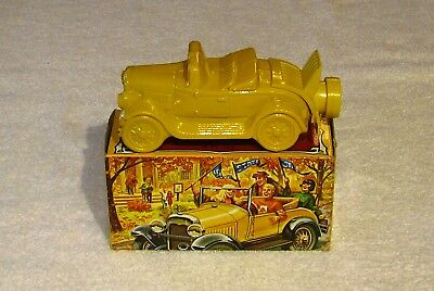 """Vintage Avon After Shave Car """"Model A"""" - Yellow - In Box - Empty"""