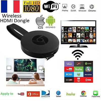 Miracast WiFi HD 1080P TV Récepteur Video Streamer Dongle DLNA Airplay Andriod