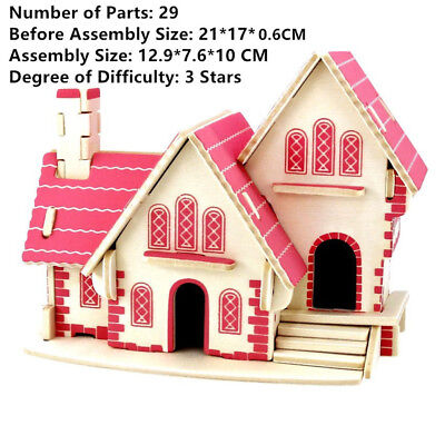 Holzbau Modell 3D Puzzles DIY Spielzeug Geduldspiele Of Lucky Dragon Phoenix 3D Puzzles