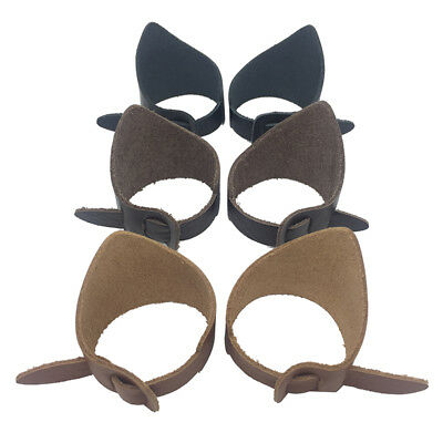 38-56mm Dia. Pair Cow Leather Eye Cups Guards for Microscope Telescope Eyepiece