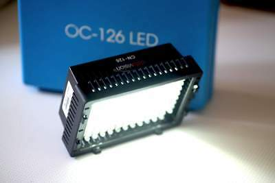 LED panel OC-126 video light, flashmount, variable & powerfull (650 lux at 1m)