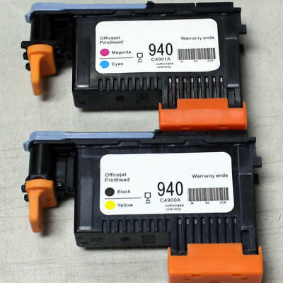 2x HP 940 Druckkopf  C4900A & C4901A For For HP OfficeJet Pro 8000 8500