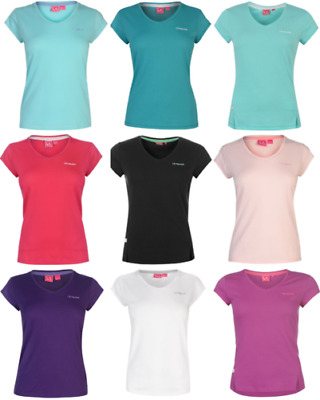 La Gear T-Shirt T Shirt short Sleeve Women's Top Jogging Fitness V Neck 4007