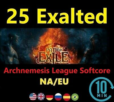15 x Exalted Orb - DELVE League ( Path of Exile POE Softcore ) 15ex-20 Online