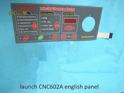 NEW english panel for launch CNC602A/C601/402 injector tester and cleaner