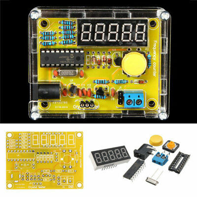 DIY Frequency Tester 1Hz-50MHz Crystal Counter Meter With Housing Kit USA Stock