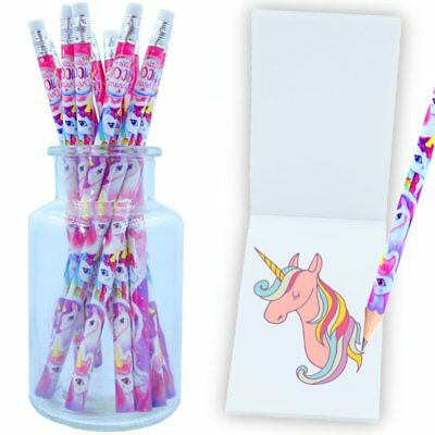 German Trendseller® - 6 x Einhorn - Party - Bleistifte | NEU | Federmappe