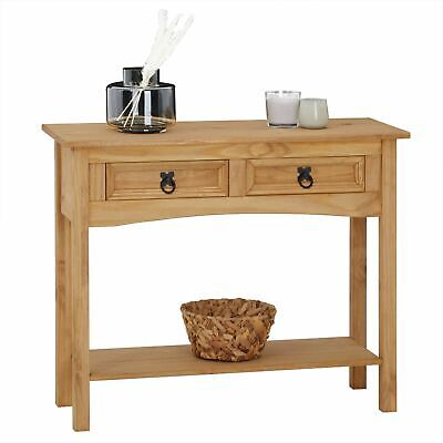 Meuble Mexicain console table meuble d'appoint style mexicain 2 tiroirs pin massif