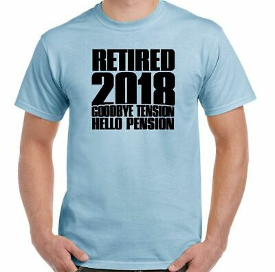 6751c2d2 Retired 2018 Mens Funny Retirement T-Shirt Pensioner 65th 68th Birthday