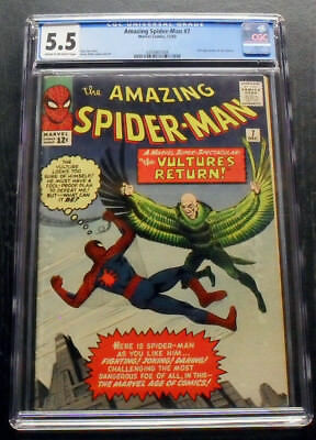 Amazing Spider-Man 7 Cgc 5.5 Silver-Age Marvel Comics Lee Ditko 1963