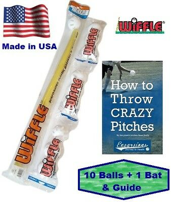 Wiffle® Ball and Bat Set Combo with Pitching Guide