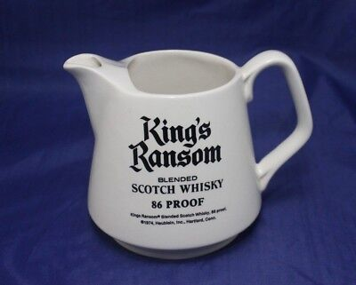 House of Lords / King's Ransom Scotch Whisky Liquor Bar Water Pitcher
