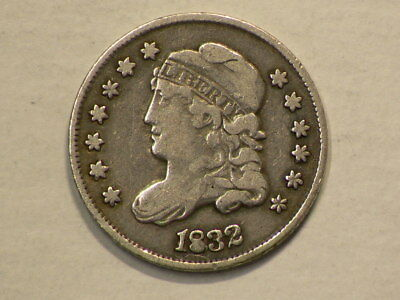1832 US Capped Bust Silver Half Dime #G9954