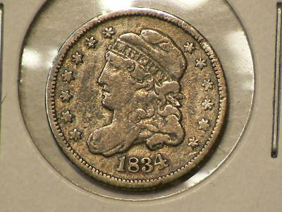 1834 US Capped Bust Silver Half Dime  #G9955