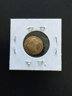 SPAIN - 1/2 ESCUDO - CHARLES III - 1786  -1.7 Grams GOLD COIN - NO RESERVE