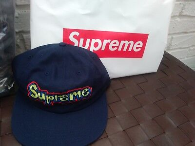 338ea530 SUPREME GONZ 6 Panel Hat Navy SS 18 - $75.00 | PicClick