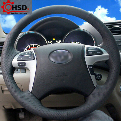 Best Sewing Leather Steering Wheel Cover For Toyota Highlander Camry 2007-2011