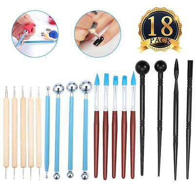 Clay Tools Clay Pottery Sculpting Modeling BallStylus Dotting Set for Embossing*