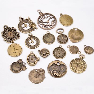 Vintage Charms Steampunk Clock Jewelry Making Mixed Clock Pendant Pendant