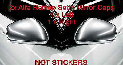 2x ALFA ROMEO GIULIETTA MiTo 159 SATIN CHROME WING MIRROR COVERS CAPS REPLACEM.