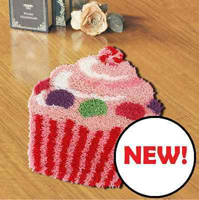 Cupcake Printed Canvas Latch Hook Rug Kit - *NEW* Everything included