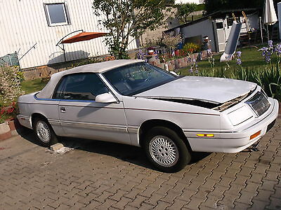 Chrysler Le Baron Cabrio Schlachtfest Bj 01/1989 2,5l Turbo 108 KW Weiss
