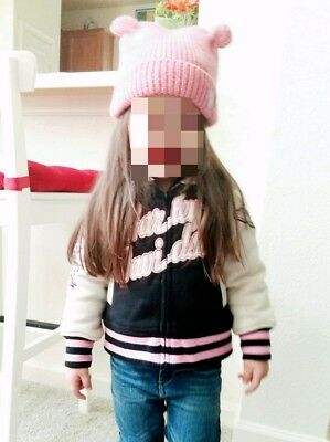 Harley Davidson jacket for little girls size 3T and a pink hat 2-4T