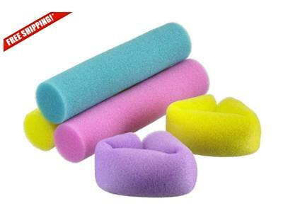 9 Pcs Big Curl Foam Rollers Soft Sponge Loose Wavy Curls Hair Styling Curlers