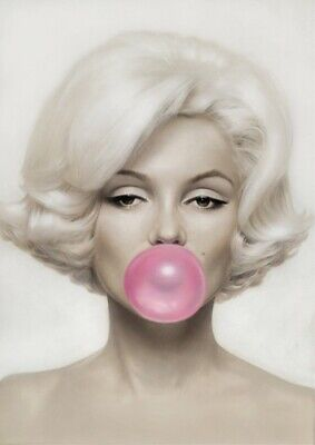 MARILYN MONROE Pink Bubblegum Giant Poster - A5 A4 A3 A2 A1 HUGE Sizes
