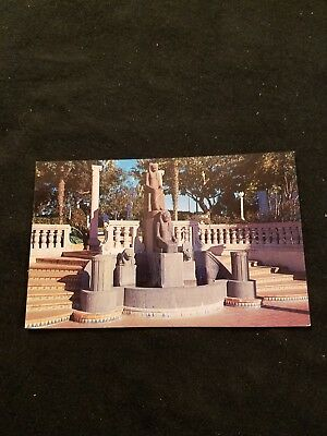 The Egyptian Goddess Statue Hearst San Simeon State Monument Old Postcard P32580