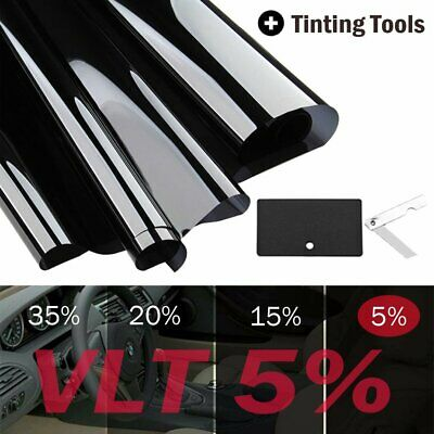 """Uncut Window Tint Roll 5% VLT 20"""" in 10 ft feet Home Commercial Office Auto Film"""