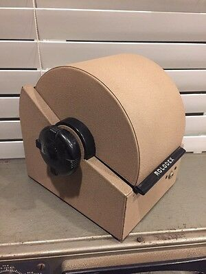 Mid Century Industrial Rolodex 4x2 Metal Rotary Card Index Holder in Tan - 2254D