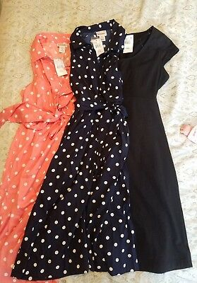 Maternity Lot of 3 Motherhood Maternity Dresses, Size Small (S), New With Tags