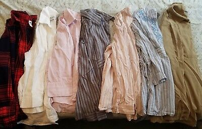 Maternity Lot of Seven Button up tops, Size Small (S), Various Brands