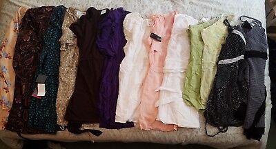 Maternity Lot of 13 Tops, Size Small & Medium, Various brands