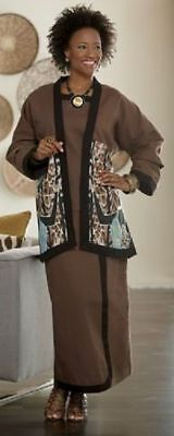 Fairuza Skirt Set Ashro Ethnic African American Pride Dress Brown Size 6 10
