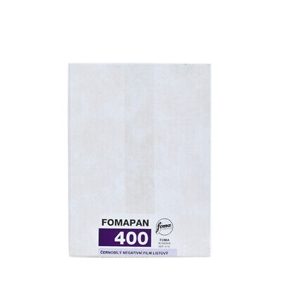 Foma Fomapan 400 4X5 1pack/ 50 Sheets Black&White Large Format Film Fresh 2021