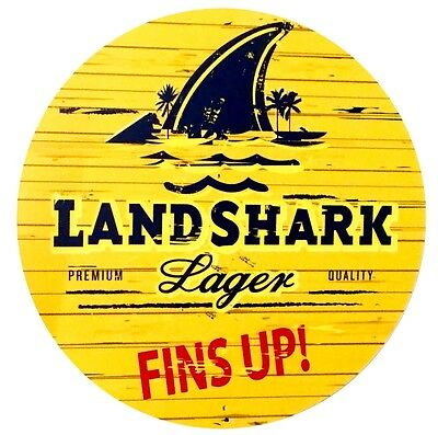 "Landshark Lager Aluminum Collectible Sign - 7"" Diameter"