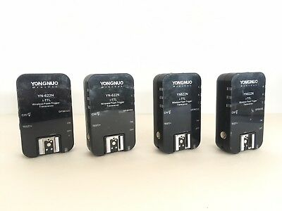 FOUR (4)  Yongnuo YN-622N Wireless Triggers i-TTL Flash for Nikon