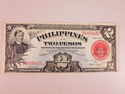 Two Pesos Philippines  Series Of 1936 Note